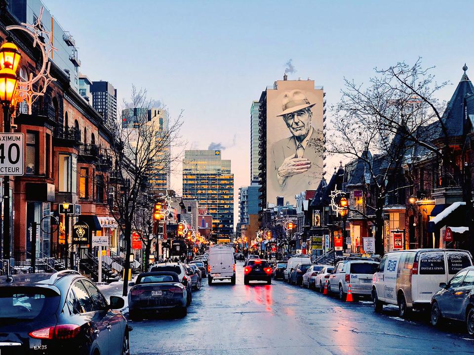 Mural Leonarda Cohena Montreal Kanada