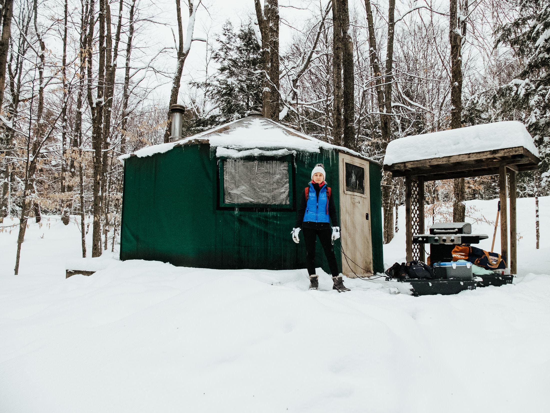 Jurta w kanadyjskim parku